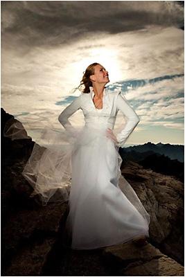 královna hor nevěsta na vrcholu lomnického štítu