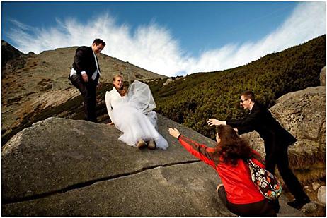 svatební fotografie nalomnickém štítu tatry