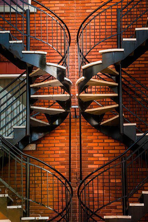 symetrie ve fotografii, schody