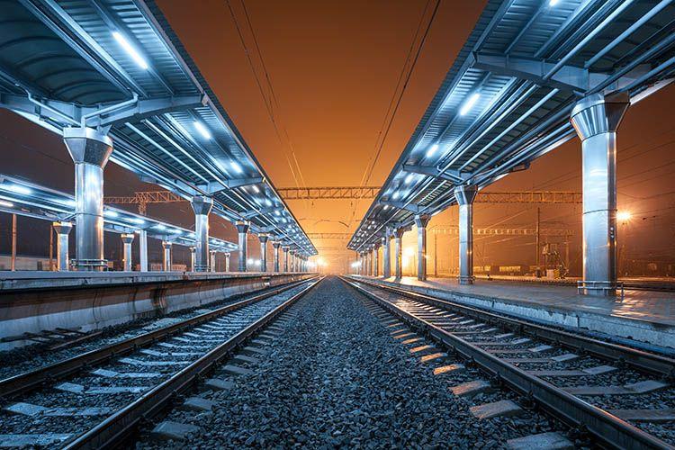 nádraží, symetrie ve fotografii